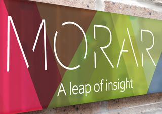 Morar rebrand signage - David Carroll & Co